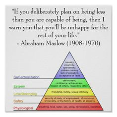 Abraham Maslow Quote & Hierarchy of Needs Poster Zazzle com is part of Psychology quotes - Shop Abraham Maslow Quote & Hierarchy of Needs Poster created by levinchristensen Personalize it with photos & text or purchase as is! Psychology Posters, Psychology Facts, Color Psychology, Psychology Resources, Psychology Courses, Abraham Maslow, Maslow's Hierarchy Of Needs, Self Actualization, Emotional Intelligence