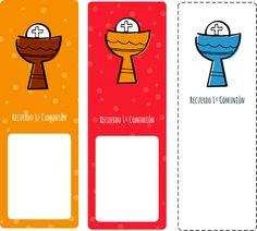Imprimibles comunión. Marcapáginas: Gratis en http://manualidades.euroresidentes.com/2013/04/recordatorio-de-primer-comunion.html
