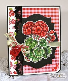 ChristineCreations: Scrapbook & Cards Today Hop! Geraniums Take Two  stamp set by Power Poppy, card design by Christine Okken.