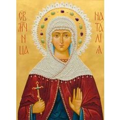 St Natallia, $695.00, catalog of St Elisabeth Convent. Icon is made by a crushed stone technique. #catalogofgooddeed #icon #natalia