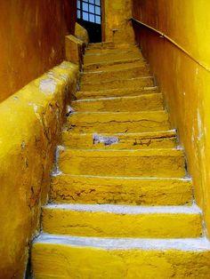 Yellow stairway