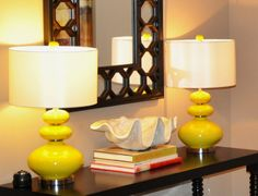 Like the Chartreuse colour of the lamp bases