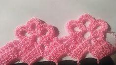 YouTube Thread Crochet, Crochet Lace, Crochet Stitches, Crochet Edgings, Crochet Borders, Crochet Patterns, Chrochet, Macrame, Embroidery