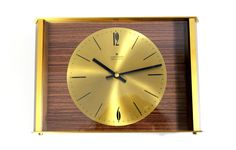 Mid Century Modernist Wall Clock Brass by JUNGHANS by Vinteology