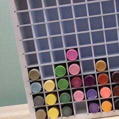 Craft Paint Storage Organizer for Acrylic Paint bottles holds 90 Acrylic Paint Bottles, Bottle Painting, Craft Paint Storage, Craft Organization, Organizing Ideas, Creative Closets, Creative Storage, Pink Crafts, Space Crafts