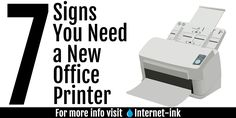 Sometimes a printer will last seemingly forever, but there will come a time when you'll need to replace it. Here at Internet-ink, we've compiled a list of signs to look for before buying a new office printer.