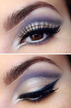 Winged White Eye Shadow #eyeshadow #makeup