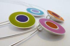 Bullseye Pendants by Rebecca Geoffrey, via Flickr
