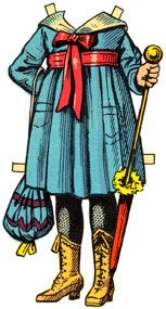 ✄ #Paper dolls......Vintage Paper Doll - Going to Church