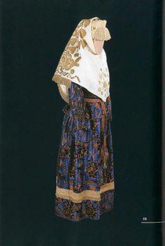 Праздничный костюм молодой женщины (длина кофты - 51 см, длина юбки - 97,5 см). Начало XX века. Олонецкая губерния