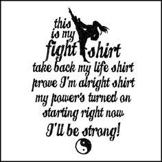 This is My FIGHT SHIRT T-SHIRT-Karate-Taekwondo-Jiu-Jitsu...-MST462