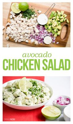 Avocado Chicken Salad- a quick lunch dish we know you'll love!