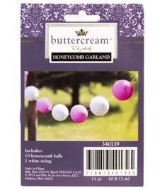 Buttercream™ Elizabeth Collection Honeycomb Balls