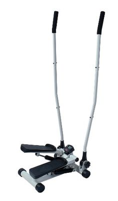 The Dual Action Mini-Stepper combines the lower body workout of a stepper with the upper body workout for full body cardiovascular conditioning. The arm movements is controlled using dial adjustment. This compact unit comes complete with dual hydraulic cylinders for resistance and an electronic monitor for tracking time and steps taken. Warranty is 90 days parts, 1 year frame. Maximum user weight is 250lbs...