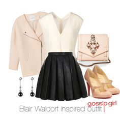 """Blair Waldorf inspired outfit/ Gossip Girl"" by tvdsarahmichele on Polyvore"