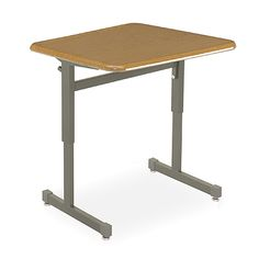 Silhouette Single-Student Desk (Hard Plastic Top) The Silhouette Student Desk is a contemporary desk for traditional classrooms, combining elegant design, durability and functionality. It's stable and strong and its leg design allows easy ingress and egress. A backpack peg is standard. Choose from three Bookbox options. Hard Plastic top available in (Grey, Maple, Oak, Sand or Cherry).