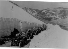 Throwback Thursday: It was hard work digging out the Fall River Road, but people from all over were able to enjoy the summer drive through the narrow snow-tunnel in their Model Ts. If you make it up for the opening of Trail Ridge, you can have a similar experience! Usually Trail Ridge is opened by the end of May, but these folks had to wait until the 25th of June 1926 to enjoy the scenic drive up! ch (NPS Archive photographer F. Clatworthy) from RMNP fb
