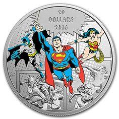 Canada 2016 5$ Superman Batman II 1 oz Silver BU Coin