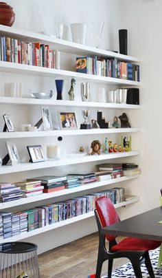 floating shelves #library