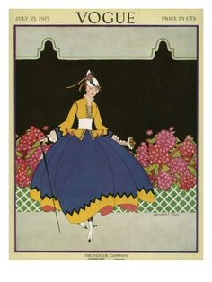 Vogue Cover - July 1915 Premium Giclee Print by Margaret B. Bull at AllPosters.com