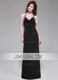 c9df1023b8c6 Black Jersey Sheath/Column Beading Sequins Sleeveless Evening Dress Evening  Dress Aftonklänning, Formella Klänningar