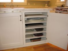We love this storage idea for your #kitchen. www.budgetbathandkitchen.com
