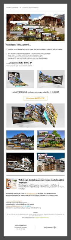 sommerfrisches Webdesign um ehrliche 1.990.- Web Design, Hotels, Marketing, Linz, Design Web, Site Design, Website Designs