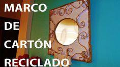 MARCO DE CARTON RECICLADO. Framework of recycled cardboard.