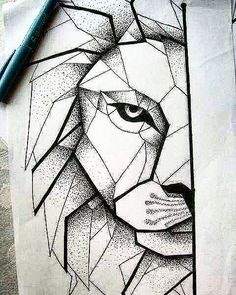 The next one..! #geometric #lion #tattoo #next #one #before #australia