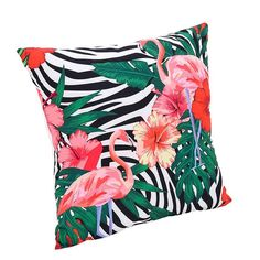 Coussin flamand rose 'Tropical'