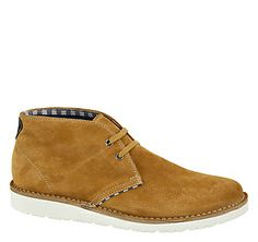 MOYER CHUKKA - Tan Water-Resistant Suede from Johnston & Murphy