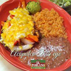 Come and try our Acapulco Rib Eye! #ElPoblano #mexicanFood #rib #acapulcoRib #latinos