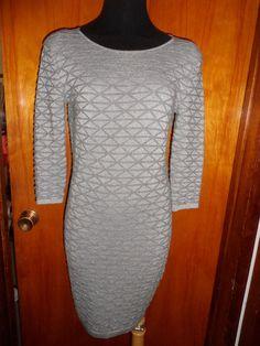 Victoria's Secret Moda International Metallic Waffle Knit Sweater Dress S New #ModaInternational #Casual
