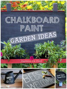 Creative ways to use chalkboard paint in the garden. #ad
