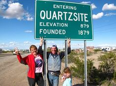 I think they are really happy to be back in   Quartzsite, AZ!