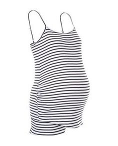 Maternity Black Stripe Underbump Pyjama Set   New Look
