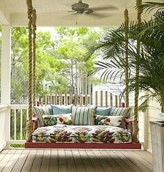 Port St. Joe house rental - Luxurious porch bed swing ~ perfect for naps, cuddles and storytime!