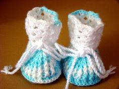Crochê Compartilhado: Sapatinhos de Crochê para Bebê – Caninho em Ponto ...