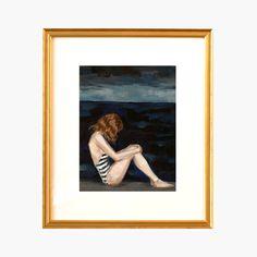 Richmond – Thin antiqued gold frame