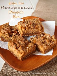 Gluten Free Gingerbread Pumpkin Bars at FoodBlogs.com