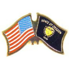 "American & Oregon Flags Pin 1"" by FindingKing. $8.50. This is a new American & Oregon Flags Pin 1"""