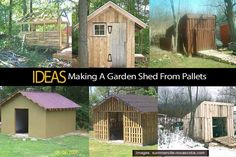 Ideas - Making A Garden Shed From Pallets