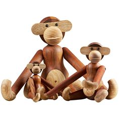 The wooden Monkey, designed by Kay Bojesen, is a beloved classic of Scandinavian design. The monkey with its mischievous look and light coloured belly has transformed kids' rooms into jungles and sparked dreams of far-away places since 1951.