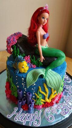 little mermaid cake - Google Search