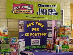 Great ideas on Box Tops For Education Facebook page!