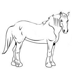 Kolorowanka dla dzieci - zwierzęta - koń