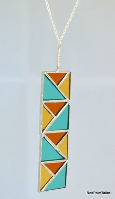 Art Deco inspired Jewellery Stained Glass by RedPointTailor, €35.00