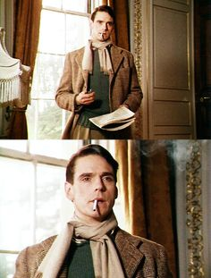 Jeremy Irons as Charles Ryder in Brideshead. Fave.