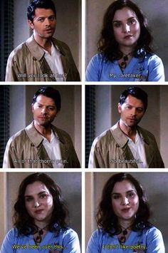 So Castiel must have tried to recite poetry to Meg before this. (Nawww.)