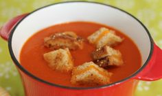 Have a look at Roasted Red Pepper and Heirloom Tomato Soup with Crab ...